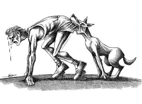 سگهای باز آنها و سنگهای بستهما